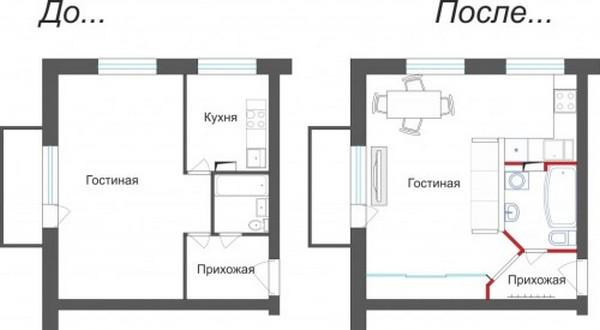 Перенос в жилую комнату